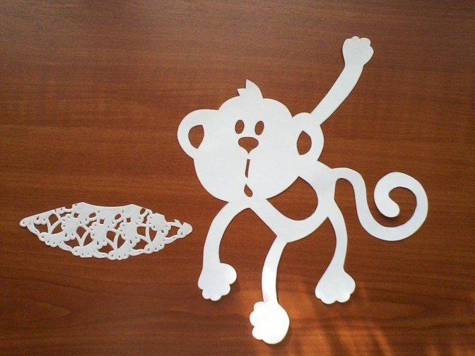 Як зробити витинанку-мавпочку на Новий рік, фото 4