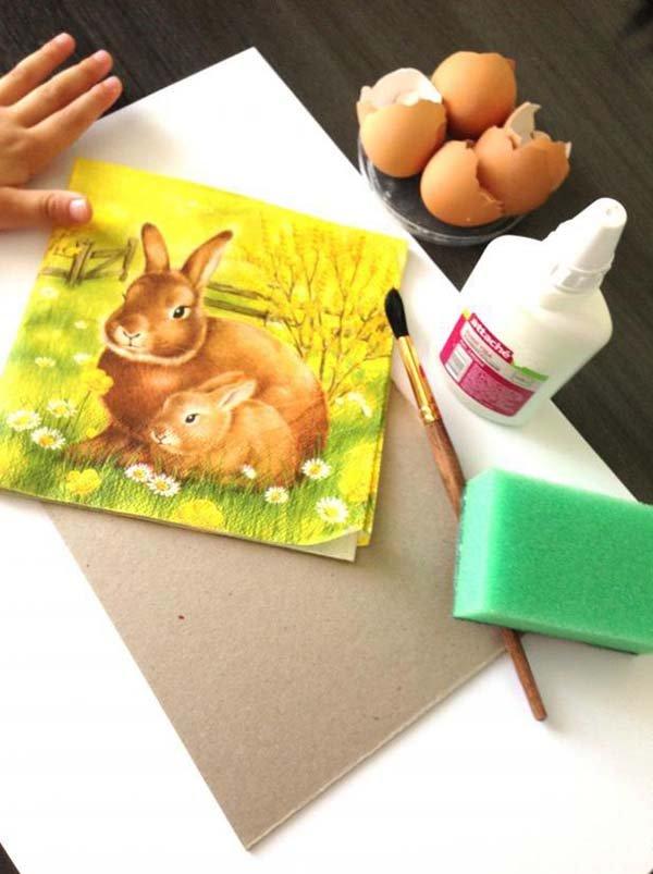 Проста мозаїка з яєчної шкаралупи для дітей, фото 2