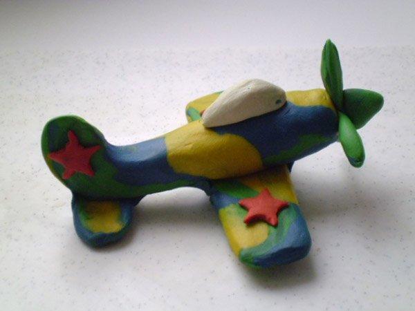 Фігурки з пластиліну - літак, фото 4