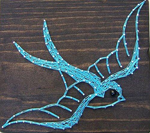 Панно картини з цвяхів і ниток. Схема 12