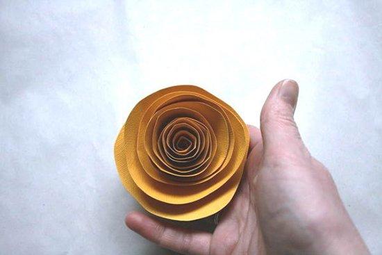 Розы из бумаги - фото 8