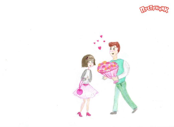Рисунки ко Дню Святого Валентина