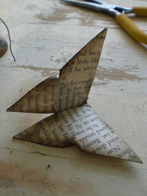 Оригами бабочка шаг 17