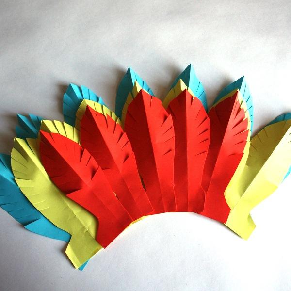 Перья для костюма индейца своими руками 12
