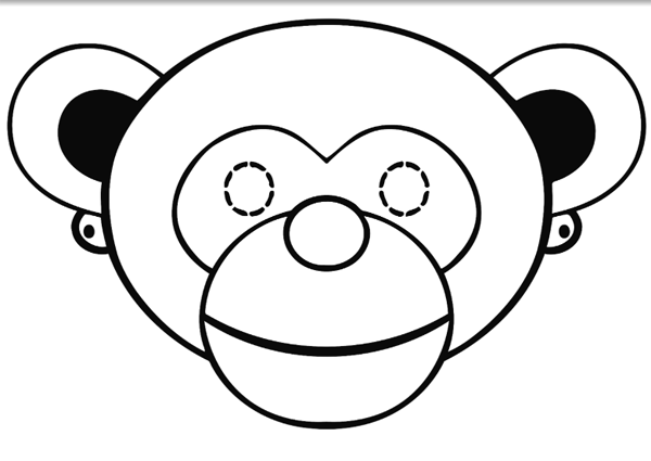 Маска обезьяны из бумаги своими руками, фото 15