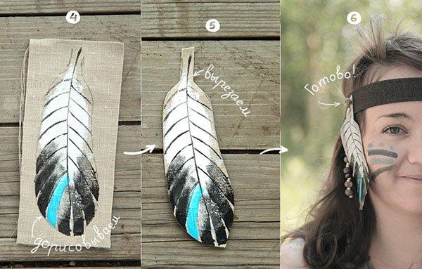 Индейский головной убор своими руками, фото 18