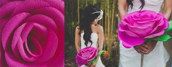 Троянди з гофрованого паперу своїми руками - фото 6
