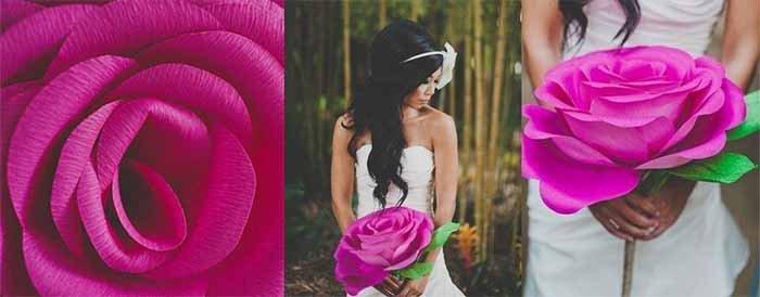 Розы из гофробумаги своими руками - фото 6