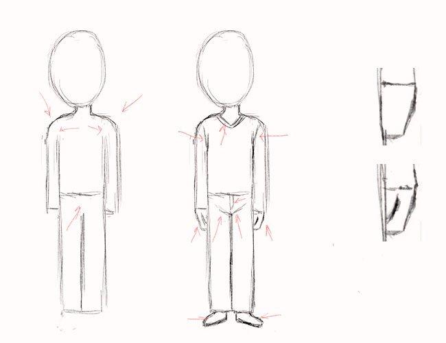 Як намалювати хлопчика, крок 3