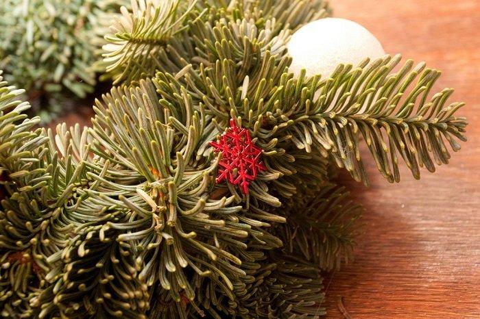 Рождественская сказка на двери
