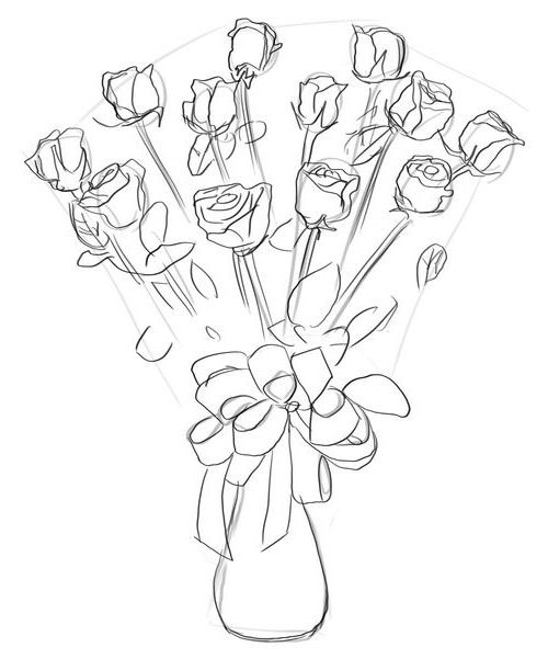 Як намалювати троянду крок за кроком – схема, фото 27
