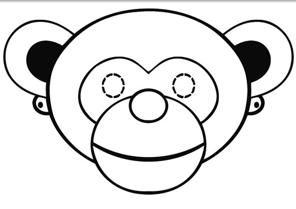 Маска мавпи з паперу своїми руками, фото 15