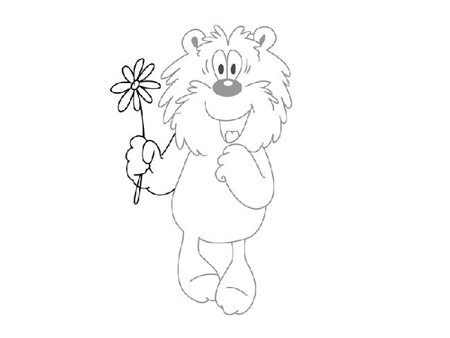 Рисуем мишку из мультфильма «Трям! Здравствуйте!» шаг 3