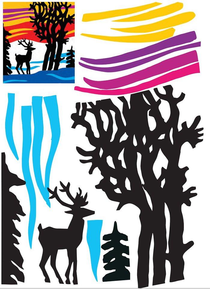 Новогодние вытынанки - трафареты для вырезания из бумаги, фото 7