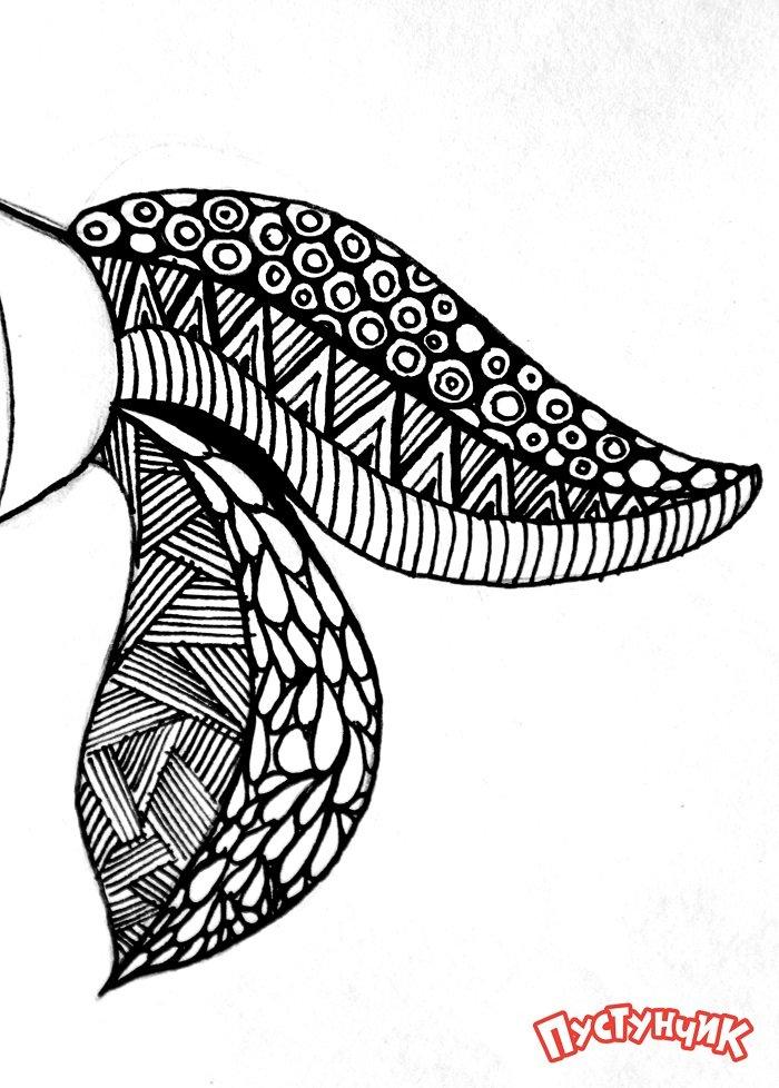 Зентангл тварини - рибка, фото 7