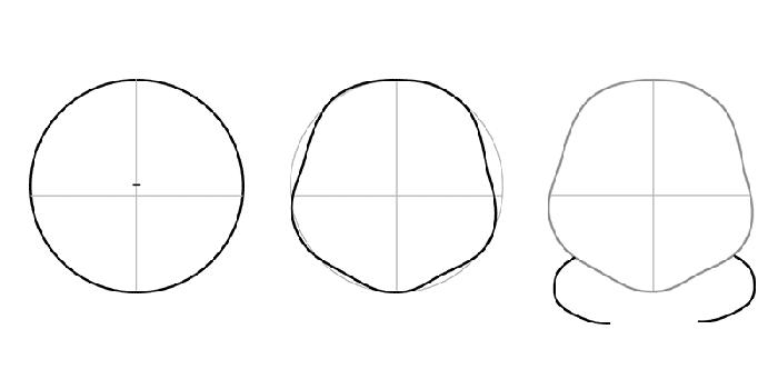 Как нарисовать Лунтика, схема