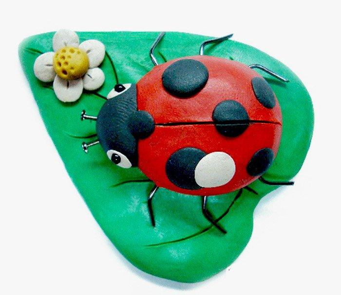 Як ліпити з пластиліну тварин і комах - сонечко, фото 2