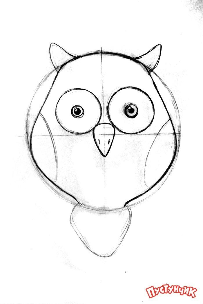 Зентангл тварини - сова, фото 3