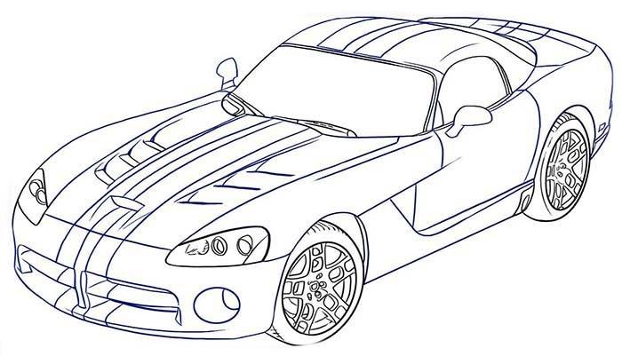 Мастер-класс по рисованию автомобиля Dodge Viper