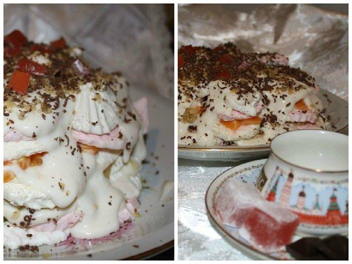 Рецепт зефирного торта с фруктами без выпечки, фото 4