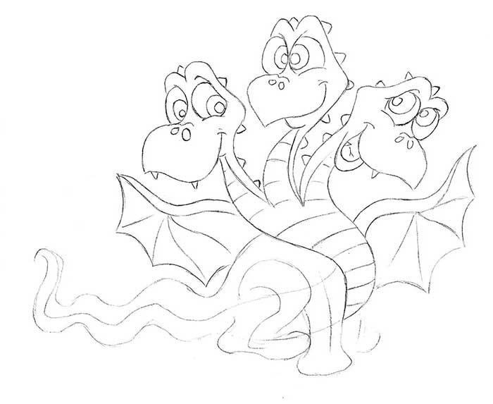 Как рисовать драконов шаг за шагом, схема 1 - этап 6