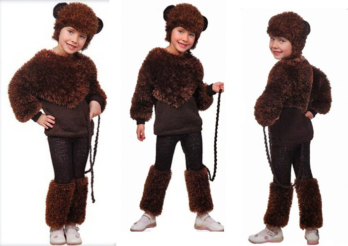 выкройки для костюмчика обезьянки на Новый год