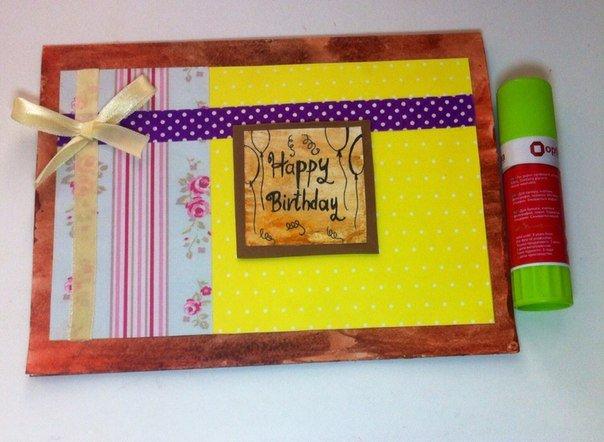 Скрапбукінг, майстер клас: листівка з днем народження своїми руками. Фото 11