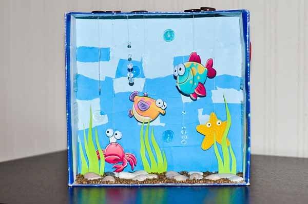 Яскраві літні саморобки з дітьми своїми руками - акваріум, фото 6