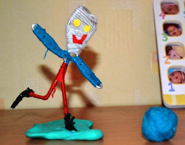 Фігурки з дроту та ниток. Майстер-клас, фото 3