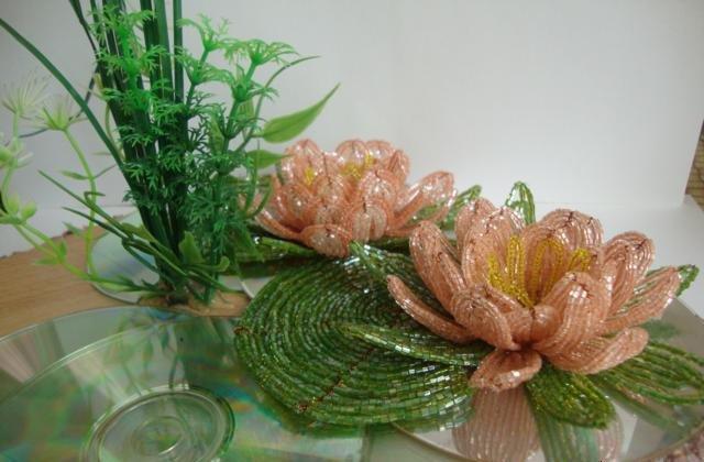 Лилии из бисера, схемы плетения - фото 13