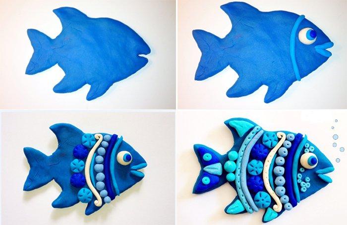 Лепка животных из пластилина - рыбка, фото 4