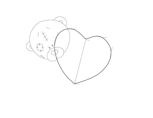 Як намалювати ведмедика Тедді, схема 1, крок 3