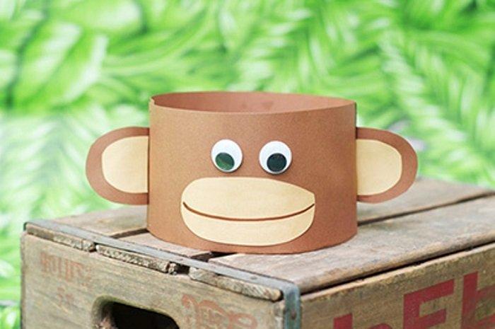 Маска мавпи з паперу своїми руками, фото 11
