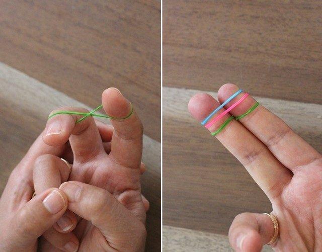 Плетіння резинками, браслети на пальцях. Інструкція - фото 1