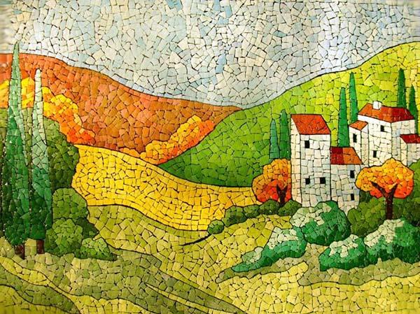 Простая мозаика из яичной скорлупы для детей, фото 1