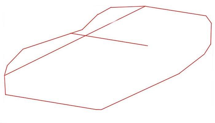 Як покроково намалювати автомобіль Dodge Viper