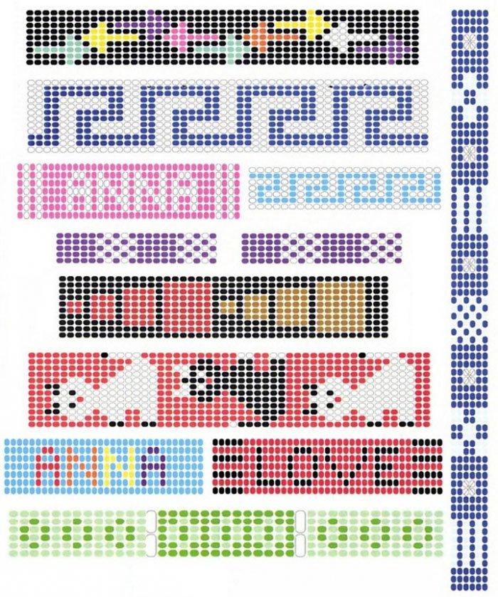 Схема плетения бисер станок