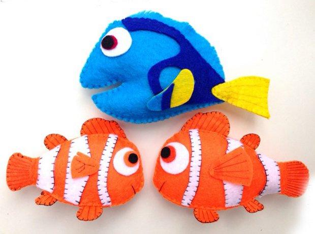Детские поделки из фетра своими руками - рыбки из фетра, фото 13