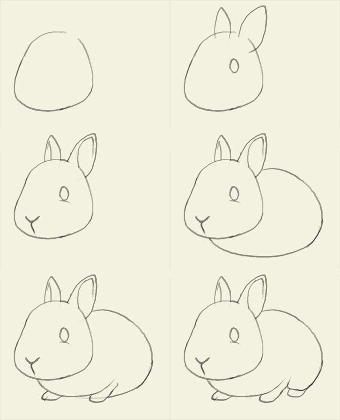 Как нарисовать зайчика поэтапно, фото 12