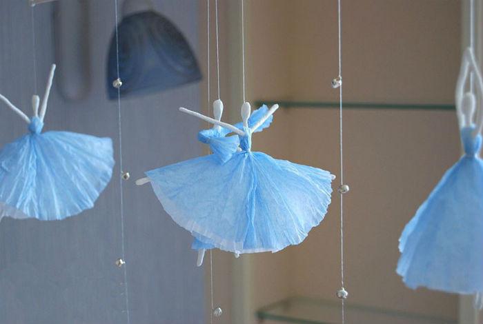 Балерина из салфеток своими руками