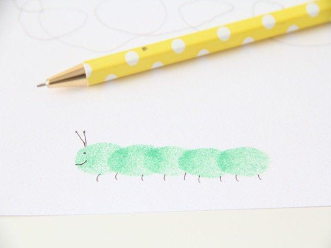 Малювання пальцями картинки - ескіз 4