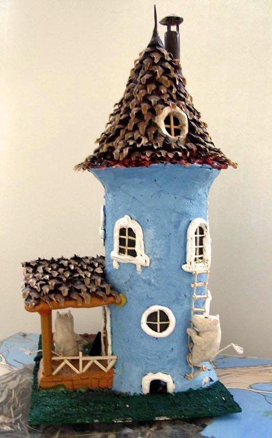 Ліплення з пластиліну в дитячому садку - будиночок, фото 2