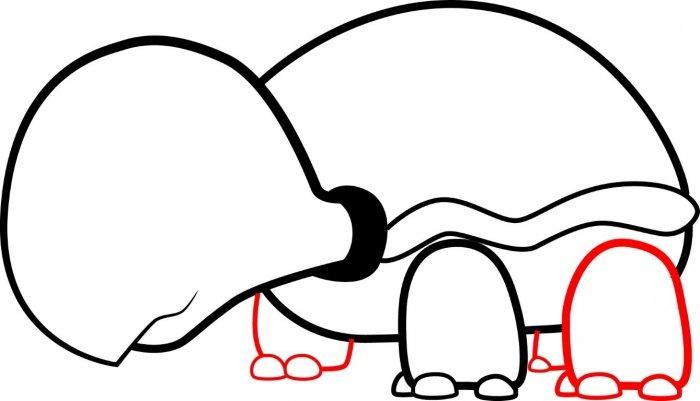 Как нарисовать черепаху карандашом поэтапно, фото 10