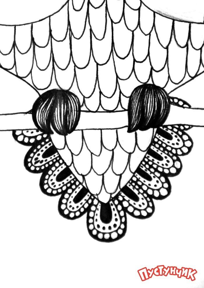 Зентангл тварини - сова, фото 7
