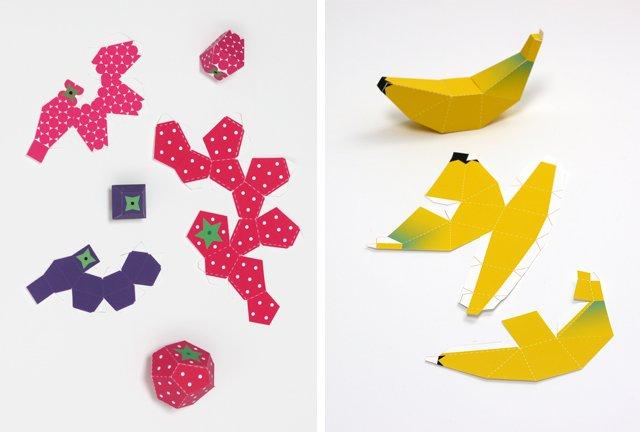 Объемные поделки из бумаги. Шаблоны фруктов для объемной аппликации, фото 9