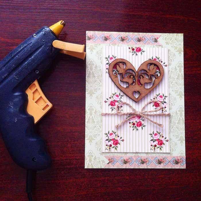 Простая скрап-открытка своими руками - фото 7