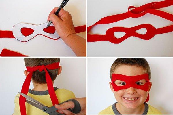 Как сделать маску черепашки ниндзя своими руками