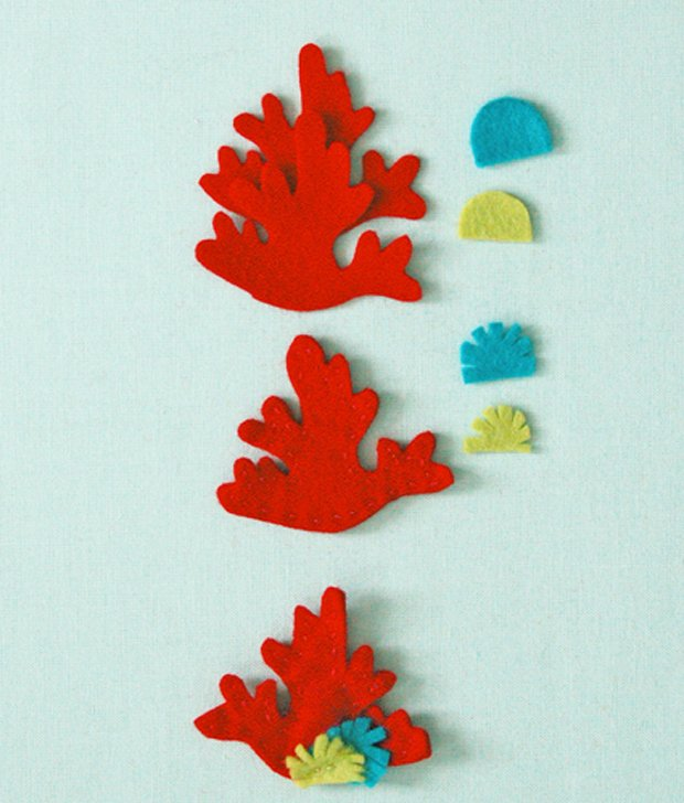 Детские поделки из фетра своими руками - рыбки из фетра, фото 10