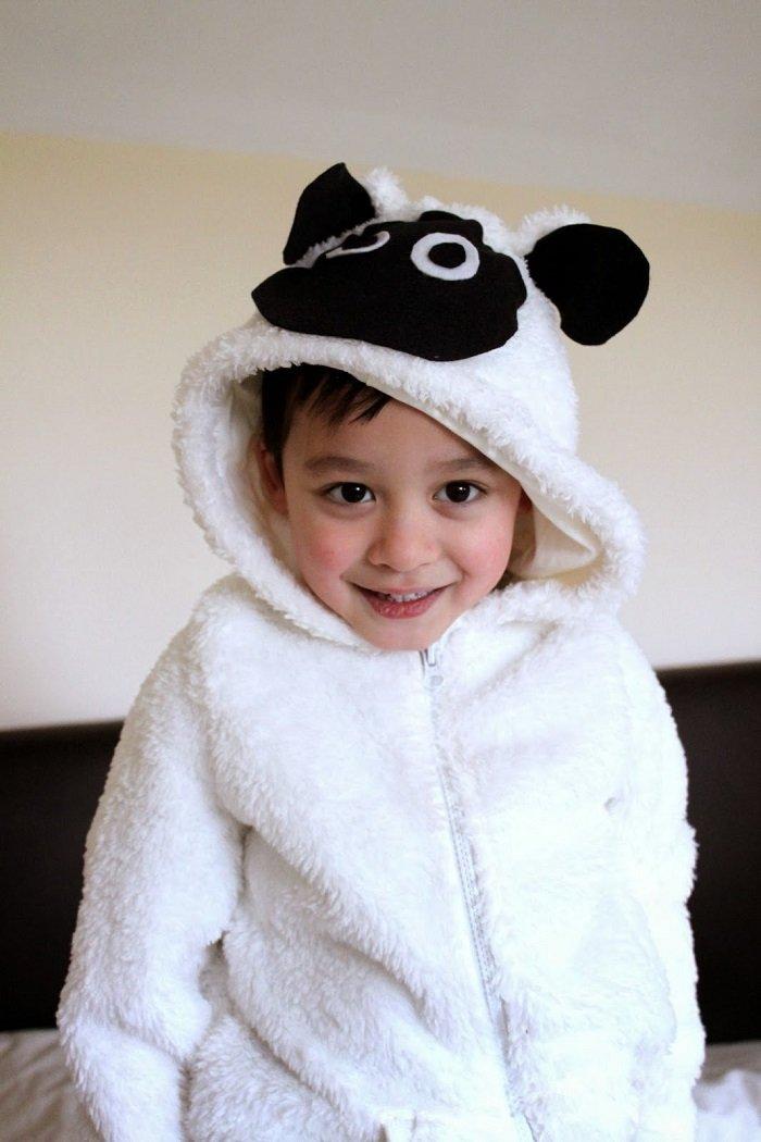 Новогодний костюм барашка для мальчика