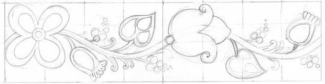 Рисуем украинский орнамент шаг 3